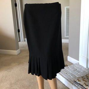 Sag Harbor Ladies Black Skirt w/Bottom Pleats